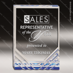 Acrylic Blue Accented Jewel Mirage Trophy Award Blue Accented Acrylic Awards
