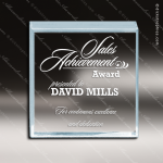 Acrylic Blue Accented Beveled Square Paperweight Award Blue Accented Acrylic Awards