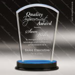 Acrylic Blue Accented Arch Impress Trophy Award Blue Accented Acrylic Awards
