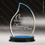 Acrylic Blue Accented Flame Impress Trophy Award Blue Accented Acrylic Awards