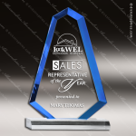 Acrylic Blue Accented Spear Tip Trophy Award Blue Accented Acrylic Awards