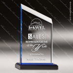 Acrylic Blue Accented Zenith Peak Trophy Award Blue Accented Acrylic Awards