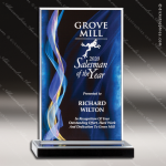 Acrylic Blue Accented Illusion Series Rectangle Trophy Award Blue Accented Acrylic Awards