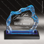 Acrylic Blue Accented Glacier Trophy Award Blue Accented Acrylic Awards