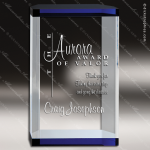 Acrylic Blue Accented Free Standing Rectangle Trophy Award Blue Accented Acrylic Awards