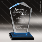 Acrylic Blue Accented Octotop Reflections Trophy Award Blue Accented Acrylic Awards