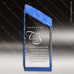 Acrylic Blue Accented Chisel Tower Award Blue Accented Acrylic Awards