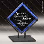 Acrylic Blue Accented Acrylic Art Diamond Galaxy Trophy Award Blue Accented Acrylic Awards