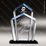 Acrylic Blue Accented Chairman Trophy Award Blue Accented Acrylic Awards