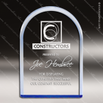 Acrylic Blue Accented Arch Circle Reflective Award Blue Accented Acrylic Awards