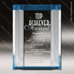Acrylic Blue Accented Channel Mirror Award Blue Accented Acrylic Awards