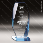 Acrylic Blue Accented Beveled Edge Trophy Award Blue Accented Acrylic Awards