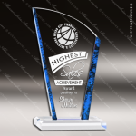 Acrylic Blue Accented Avanti Arch Marble Edge Trophy Award Blue Accented Acrylic Awards