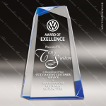 Acrylic Blue Accented Crisscross Trophy Award Blue Accented Acrylic Awards