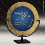 Acrylic Blue Accented Acrylic Art Plaque Round Standing Trophy Award Blue Accented Acrylic Awards