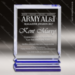 Acrylic Blue Accented Rectangle Trophy Award Blue Accented Acrylic Awards