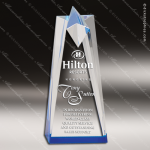 Acrylic Blue Accented Star Tower Trophy Award Blue Accented Acrylic Awards