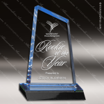 Acrylic Blue Accented Peak Trophy Award Blue Accented Acrylic Awards