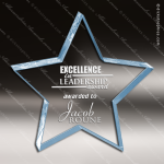 Acrylic Blue Accented Star Paperwieght Trophy Award Blue Accented Acrylic Awards