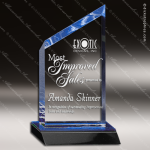 Acrylic Blue Accented Peak Wedge Trophy Award Blue Accented Acrylic Awards