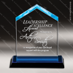 Acrylic Blue Accented Peak Reflections Trophy Award Blue Accented Acrylic Awards