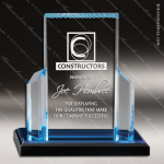 Acrylic Blue Accented Roman Column Reflections Trophy Award Blue Accented Acrylic Awards
