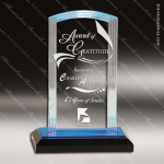 Acrylic Blue Accented Step Arch Impress Trophy Award Blue Accented Acrylic Awards