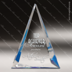 Acrylic Blue Accented Triangle Pinnacle Trophy Award Blue Accented Acrylic Awards