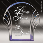 Acrylic Blue Accented Shell Award Blue Accented Acrylic Awards
