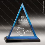 Acrylic Blue Accented Triangle Impress Trophy Award Blue Accented Acrylic Awards