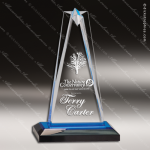 Acrylic Blue Accented Star Impress Trophy Award Blue Accented Acrylic Awards