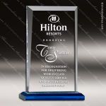 Acrylic Blue Accented Apex Series Trophy Award Blue Accented Acrylic Awards