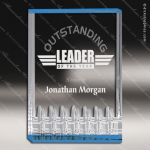 Acrylic Blue Accented Classic Series Trophy Award Blue Accented Acrylic Awards