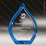 Acrylic Blue Accented Flame Trophy Award Blue Accented Acrylic Awards