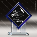 Acrylic Blue Accented Artistic Diamond Series Trophy Award Blue Accented Acrylic Awards