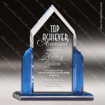 Acrylic Blue Accented Peak Point Series Trophy Award Blue Accented Acrylic Awards
