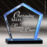 Acrylic Blue Accented Diamond Series Trophy Award Blue Accented Acrylic Awards