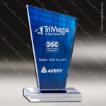 Acrylic Blue Accented Peak Series Trophy Award Blue Accented Acrylic Awards
