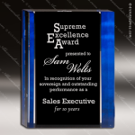 Acrylic Blue Accented Artistic Premium Series Trophy Award Blue Accented Acrylic Awards
