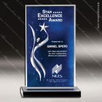 Acrylic Blue Accented Volunteer Series Star Orion Rectangle Trophy Award Blue Accented Acrylic Awards