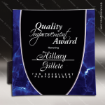 Acrylic Blue Accented Tray Style Square Trophy Award Blue Accented Acrylic Awards