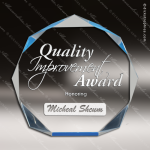 Acrylic Blue Accented Octagon Spectra Trophy Award Blue Accented Acrylic Awards