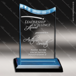 Acrylic Blue Accented Spectra Wave Trophy Award Blue Accented Acrylic Awards