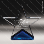 Acrylic Blue Accented Spectra Star Trophy Award Blue Accented Acrylic Awards