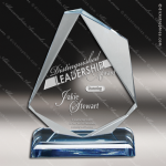 Acrylic Blue Accented Jewel Sapphire Trophy Award Blue Accented Acrylic Awards