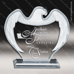 Acrylic Blue Accented Corporate Eagle Sapphire Trophy Award Blue Accented Acrylic Awards