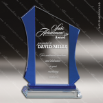 Crystal Blue Accented Sail Anvil Trophy Award Blue Accented Crystal Awards
