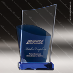 Crystal Blue Accented Soul Mate Trophy Award Blue Accented Crystal Awards