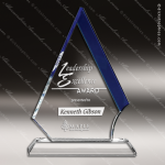 Crystal Blue Accented Marmont Trophy Award Blue Accented Crystal Awards