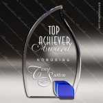 Crystal Blue Accented Uprising Trophy Award Blue Accented Crystal Awards
